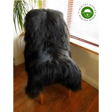 XL Top Quality Genuine ICELANDIC SHEEPSKIN Rug NATURAL BLACK