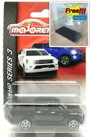 Majorette Toyota Hilux Revo Black Diecast 1:58 292K Series 3 Free Display Box