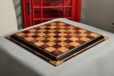 """Signature Contemporary Chess Board - WALNUT BURL  / MAPLE BURL - 2.5"""" Squares"""