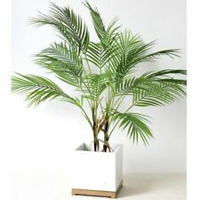 Green Artificial Palm Leaf Plastic Plants Garden Home Decoration Tree Fake Plant