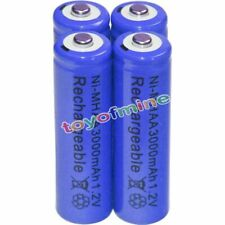 4x AA Rechargeable Battery Bulk Nickel Hydride NI-MH 3000mAh 1.2V Blue