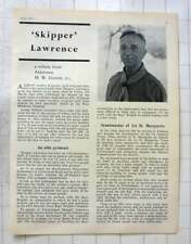 1963 Tributes Paid To Skipper Lawrence Scoutmaster First St Margarets Twickenham