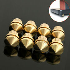 8pcs HIFI M8 Copper Speaker Suspension Spikes Isolation Stands Foot Base Pad
