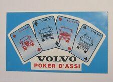 VECCHIO ADESIVO CAMION TIR / Old Sticker VOLVO Poker d'Assi (cm 13 x 8)