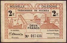 New Caledonia - Noumea  2 Francs  1942