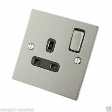 Satin Stainless Steel Plug Socket Home Electrical Fittings