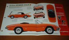 ★★1967 ALFA ROMEO SPIDER 1750 ORIGINAL IMP BROCHURE SPECS INFO 67 68 69 70 71★★