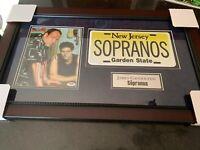 The Sopranos James Gandolfini Autographed Signed Framed Photo Collage PSA/DNA