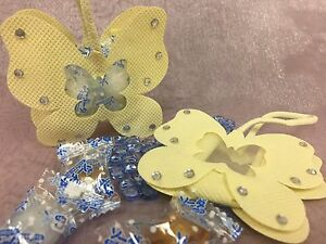 24 pieces of butterfly favor bags pouch