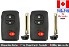 2 New Replacement Keyless Key Fob For TOYOTA PROXIMITY REMOTE Shell // Case Only