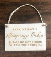 New Shhhhh Sleeping Baby Doorbell Sign