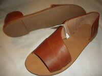 Universal Thread Lissa Women's Asymmetrical Slip-On Slide Sandals - Cognac Brown