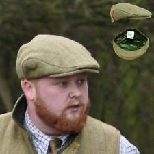 D35 Mens Light Derby Tweed Flat Cap Teflon Coated Sizes S - XXL