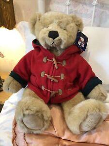 HARRODS Christmas Teddy Bear 2003 WILLIAM - WITH CARD TAG