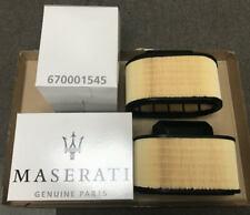 Genuine Maserati GhiblI, Quattroporte, Levante Air Filters #670001545 - Pair!