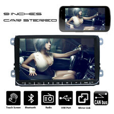 9 in Car Stereo MP5 Player Bluetooth USB Double DIN For VW GOLF 5 PASSAT Tiguan