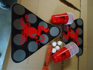 FIREBALL WHISKEY BEER PONG TABLE SET ALL YOU NEED GREAT PARTY GAME BRAND NEW