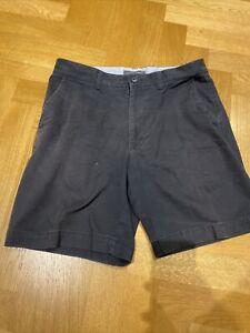 Uomo M&S Blu Cotone Chino Pantaloncini Taglia Girovita 81.3cm Lungo
