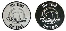Volleyball Aufnäher mit Wunschtext Volleyballnetz Patch 8cm (110-1)