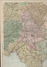 Wales South East c.1900 Bacon's Geographical Establishment Mff1