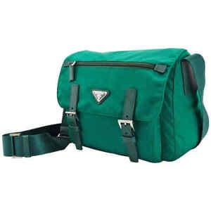 Prada Nylon Messenger Bag - Green BT0953ZOT F0571