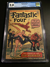 Fantastic Four #4 1st App of Sub-Mariner CGC 2.0 OW Hot Silver Key!