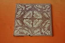 Antique Craven Dunnill & Co  Wall Tile 1880-1910 Brown Floral Design