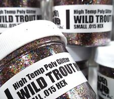 NEW 2 OZ. Jar WILD TROUT MIX High Temp Glitter .015 Hex Fishing lure plastisol
