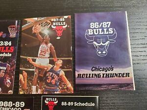 Michael Jordan cover Chicago Bulls Basketball schedule 1987-88 🔥 lot (1982-88)
