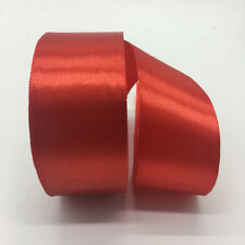 5yds 38mm Silk Satin Ribbon DIY Bow Wedding Party Christmas Ribbon Red