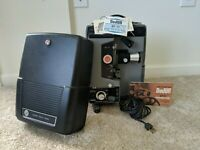 VINTAGE DEJUR DP77 SUPER 8 AND STD 8 PROJECTOR TESTED Original Booklet Included