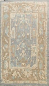 Authentic Oushak Turkish Area Rug Hand-knotted Wool Vegetable Dye Carpet 9x12 ft