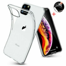 For iPhone 11 Xs Max 7 8+ XR Clear Shockproof Soft Bumper Silicone Case Cover