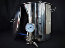 33ltr stainless steel stockpot tap temperature gauge sight glass mash tun kettle