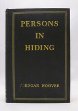 Persons in Hiding - J. Edgar Hoover - First Edition 1938