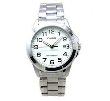 Casio MTP1215A-7B2 Men's Standard Stainless White Dial Analog Date Watch Numbers