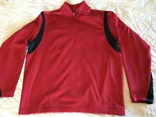 Nike Golf Mens L Therma-fit 1/2 Zip Pullover Long Sleeve Red Sports