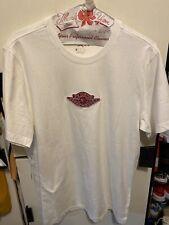Nike Air Jordan 1 Retro Wing  Embroidered T-Shirt White Red CU2784-100 Men Sz L