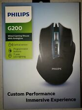 New Philips G200 Wired 7 Way LED Gaming Mouse With Ambiglow and Programmable