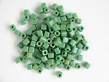 Miyuki Square Opaque Frosted Rainbow Green Seed Beads (cubes) 3.5-3.7mm(25g)