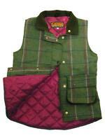Womens Game Ruby Tweed Gilet Quilted Bodywarmer Ladies Waistcoat- Pink
