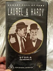 Comedy hall of fame 'Laurel & Hardy 1950' UTOPIA VHS 1989 VGC Black & White
