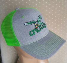 Philadelphia Throwback Eagles Hat Philadelphia Eagles Heather Gray & Neon Green