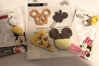 Disney Parks Mickey Mouse Food Magnets & Mickey & Minnie Charms Yellow Shoes