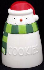 Hallmark Christmas Snowman Ceramic Cookie Jar 9 Inches Tall with Box 2015 Mint