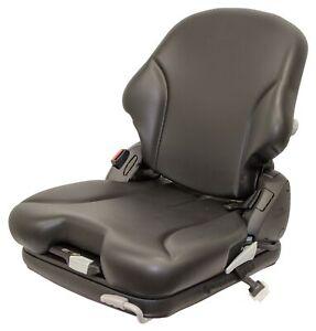 Grammer MSG75 Black Vinyl Air Seat - Fits Scag ZTR Zero Turn Mowers Turf Tiger