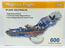 Eagle 600 piece puzzle Majestic Flight John Van Straalen Camouflage