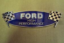 Ford High Performance Checkered Flag Emblem 289 302 351 427 428 429 460 514 521