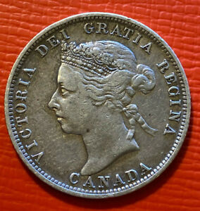25 cents   1889  canada