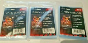 Ultra Pro Card Sleeves 100 Per Pack Soft Card Penny Sleeves  **3 pack lot**